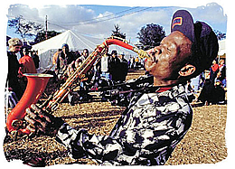 Sax Player At Woodstock South Africa